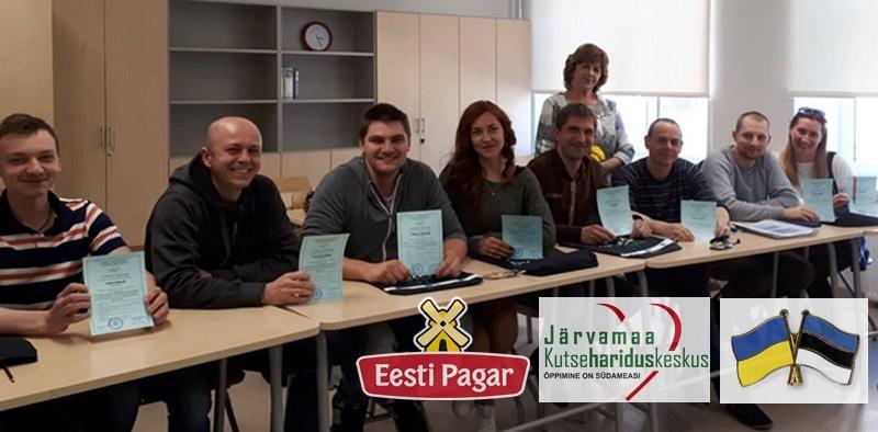 Pagaritööstuse ukrainlased avastasid Järvamaa Kutsehariduskeskuses rõõmuga eesti keelt