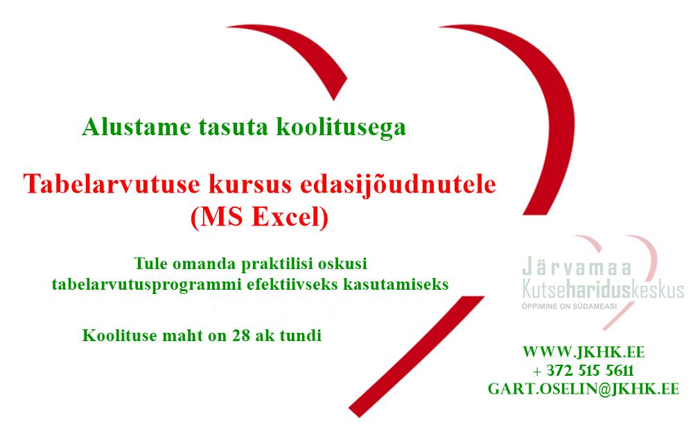 JKHK_täienduskoolitus_MS_Excel_õppimine_on_südameasi