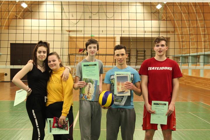 Võrkpallivõistlus Järvamaa Kutsehariduskeskuses - 27.02.2019